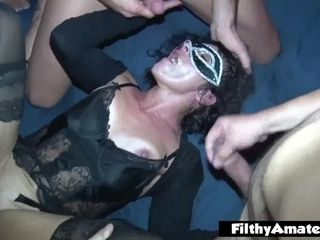 My wifey very first gang-fuck! Real Amateurs! Ass-fuck & dual invasion