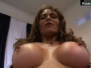 Russian huge-chested cougar scorching porno movie