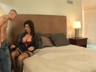 Deauxma Uses Her Feminine Charms To Seduce A Young Man