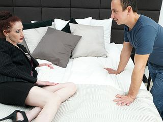 Crazy housewife shagging and sucking her lover