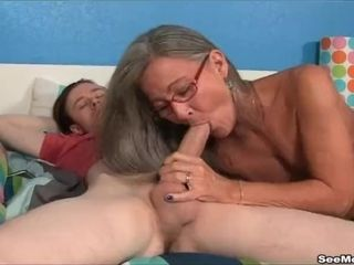 Cougar Empties Step-sons sack fellating His ginormous man rod