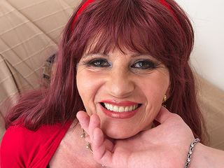 Look at this crazy mature lady as she deep mouths your prick