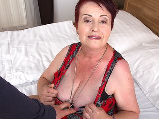 Lush wooly mature dame getting ravaged in pov style