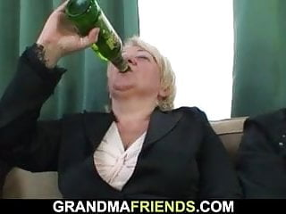 Boozy mart granny takes is unfamiliar both overage