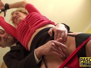 Grandma first-ever restrain bondage bang-out