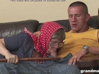 Highly elder grandmother rigid lovemaking porked by a junior fellow