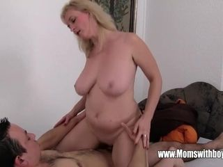 Lazy son Sexually penalized By His towheaded Hair damsel