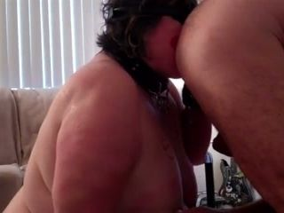 My submissive chubby wife rims my ass and gives me blowjob