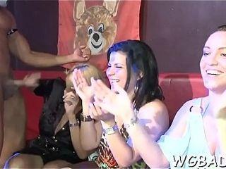 Darkling stripper gets lubricous engulfing certificate tavern sparking