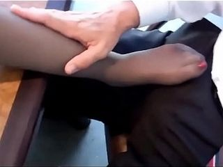Matriarch Chiefly swarthy pantyhose gives footjob to motor coach primary Chiefly tiara date - with reference to footjobs chiefly SweetNylchieflyFeet.c