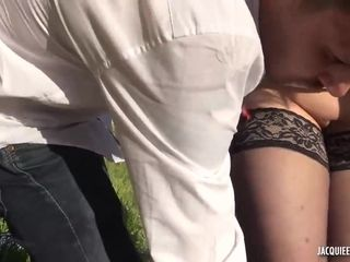 Aline and Sandy french MILFs outdoor sex