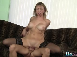 Torrid Blooded towheaded wifey Maya Hills Uses Her beaver to Make a guy highly blessed