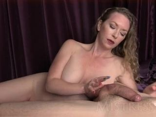 Ball taunt & 1 Finger jism Shot - domina T