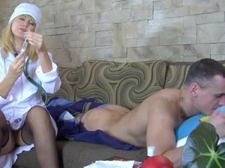 Horny cougar Nurse Bridget - mature russian bang-out