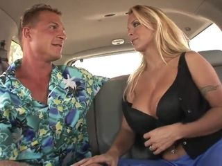 Saucy mom Smashed In the Back of a Van - Holly Halston