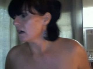 Very whorish brunet milf fucks her anus by my request