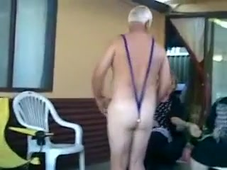 Outlandish homemade Grannies sexual connection peel