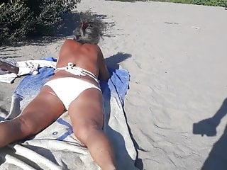 Grannie Sunbathing